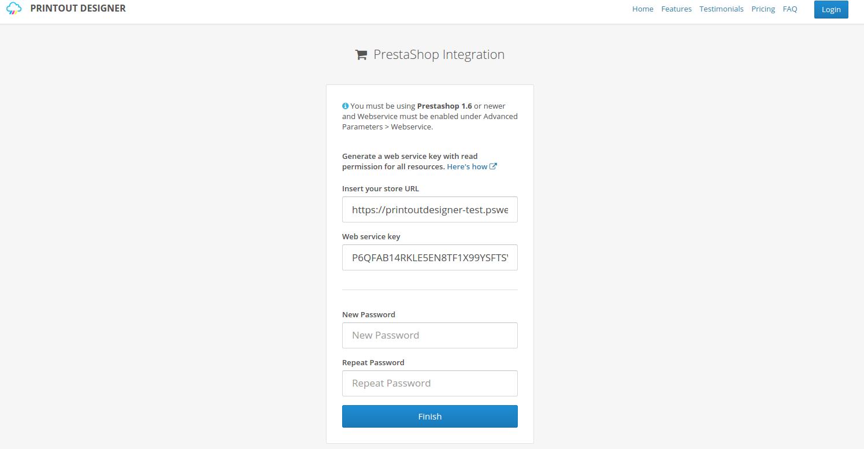 Create New PrestaShop integration