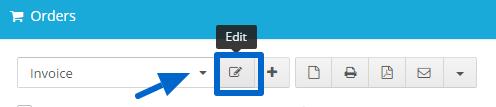 Open template editor